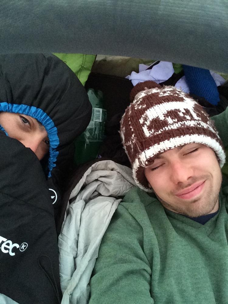 Réveil de la première nuit en tente